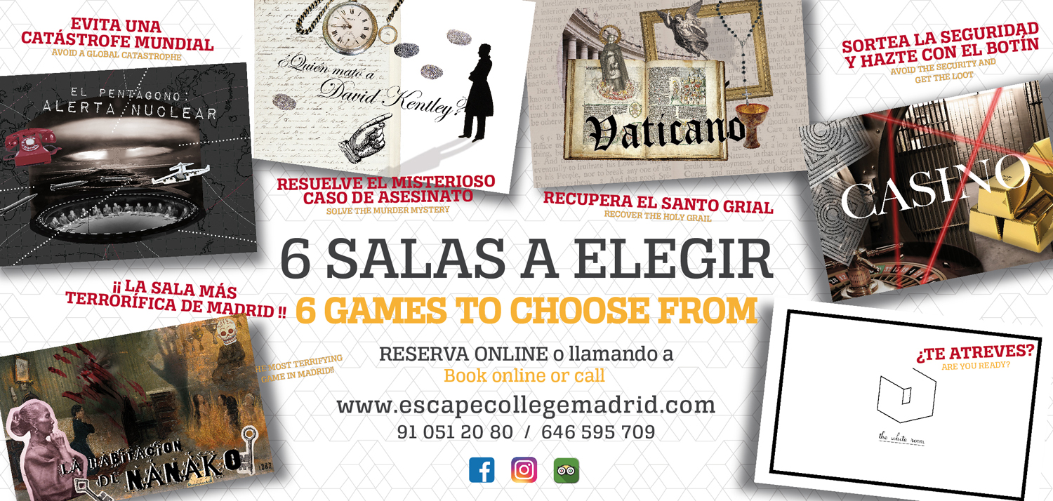 Seis salas tematicas de Escape Room en Madrid
