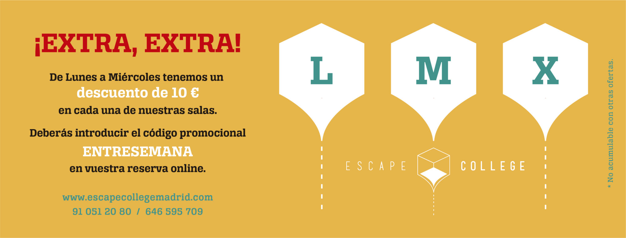 Oferta Escape Room L,M,X